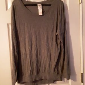 VS Pink plain Slouch Tee NWT Med